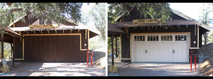 Garage door project gallery king door company for Garage door repair bakersfield ca