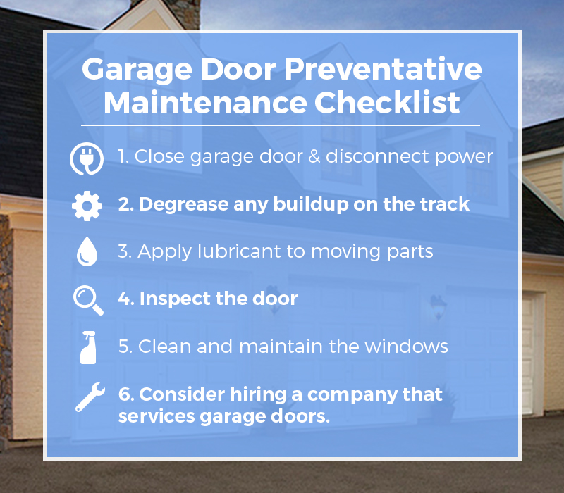 Yearly Garage Door Maintenance Plan King Door Company
