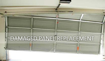 Damaged Garage Doors A Panel Replacement ...