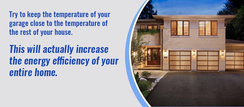 keep garage door temperature