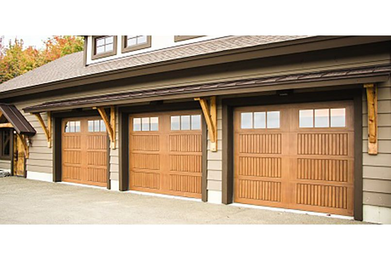 Faux Wood Fiberglass Garage Door