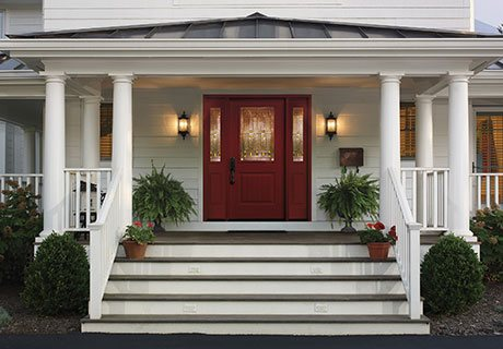 Smooth Fiberglass entry doors