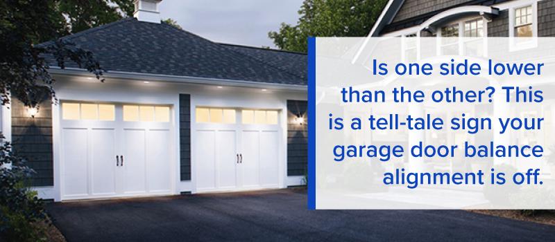 garage door alignment is off