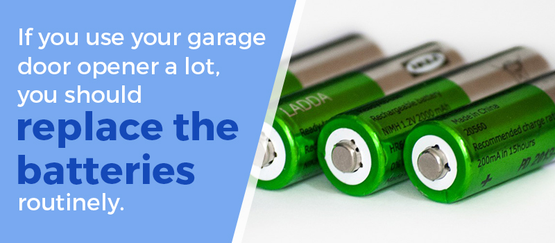 replace garage door batteries