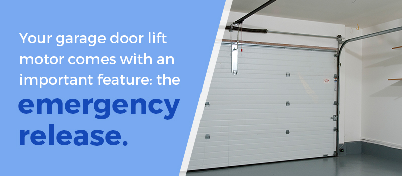 secure your garage door emergency release