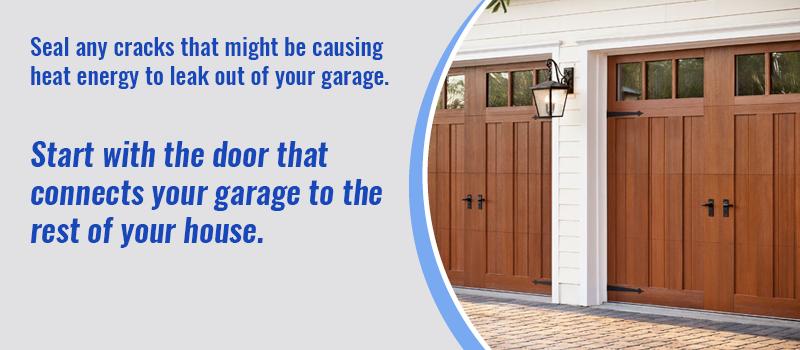 seal garage door cracks