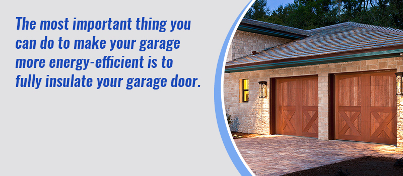insulate your garage door