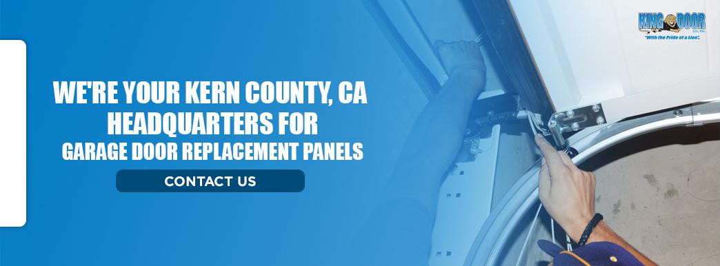 We're Your Kern County, CA Headquarters for Garage Door Replacement Panels