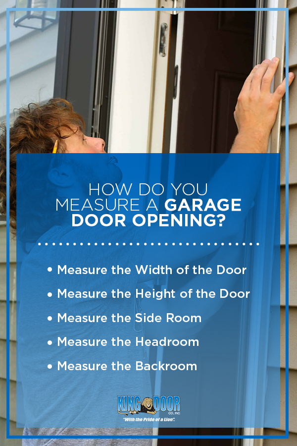 How Do You Measure a Garage Door Opening?